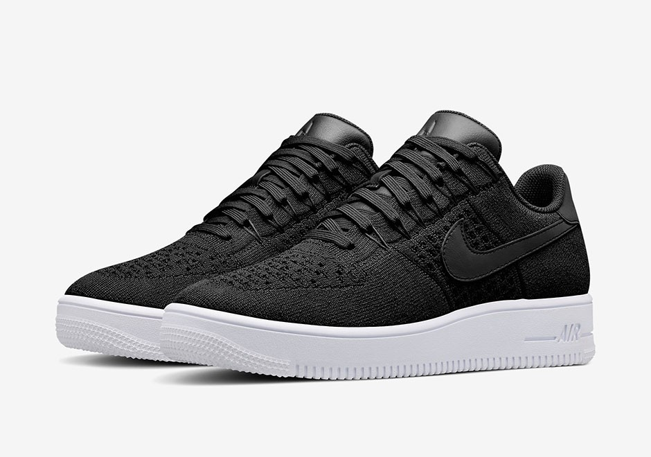 nike air force 1 flyknit low blanche homme